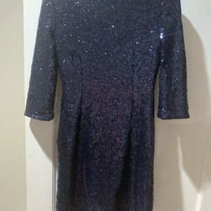 Dark blue sequin dress